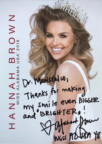 thank you note for Dr. Maniscalco from Miss Alabama USA 2018